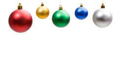 Christmas decoration. Christmas balls isolated on a white background