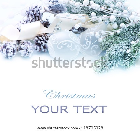 Christmas Decoration. Holiday Decorations isolated on a white background