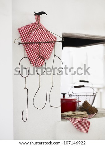 Christmas decoration in rustic kitchen