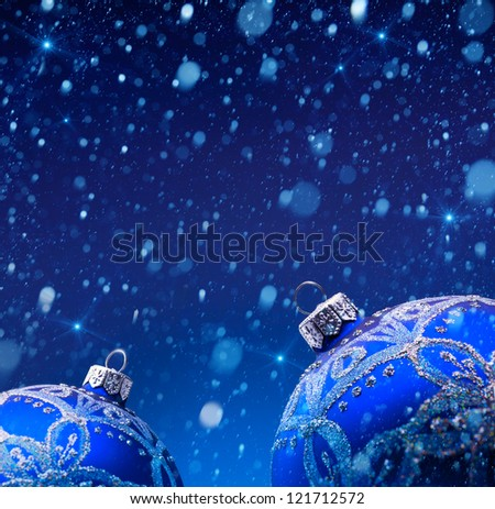 christmas decoration in snow