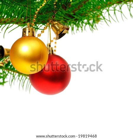 Christmas decoration isolated on a white background #19819468