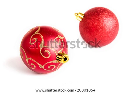 Christmas decoration isolated on the tree. New year. Xmas. - stock photo