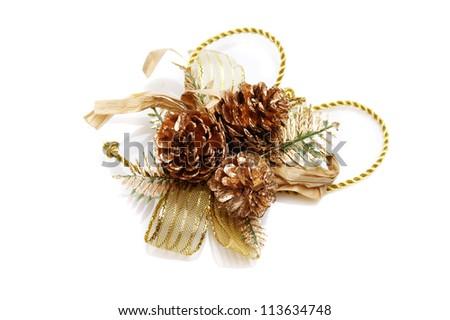 Christmas decoration isolated on white background