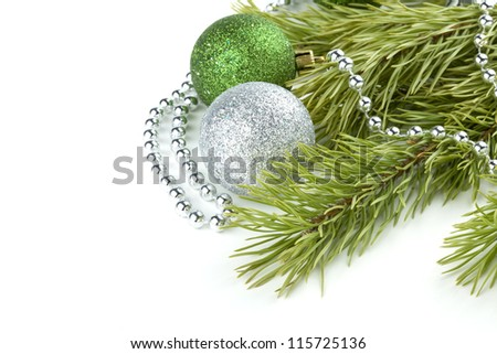 Christmas decoration. Isolated on white background