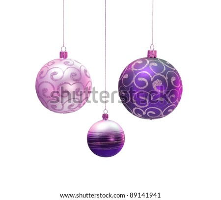Christmas decoration isolated on white background.?