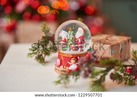 Christmas decoration of the kitchen  #1229507701