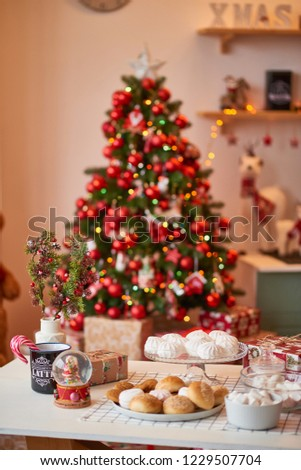 Christmas decoration of the kitchen  #1229507704