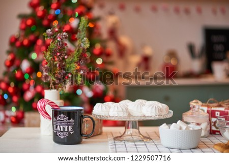 Christmas decoration of the kitchen  #1229507716