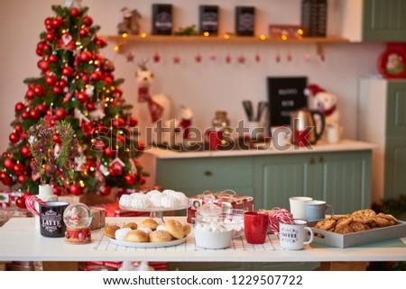 Christmas decoration of the kitchen  #1229507722