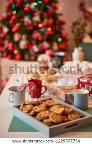 Christmas decoration of the kitchen  #1229507734