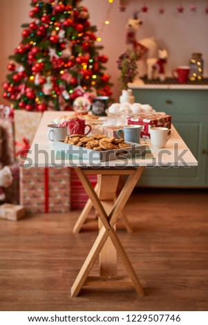 Christmas decoration of the kitchen  #1229507746