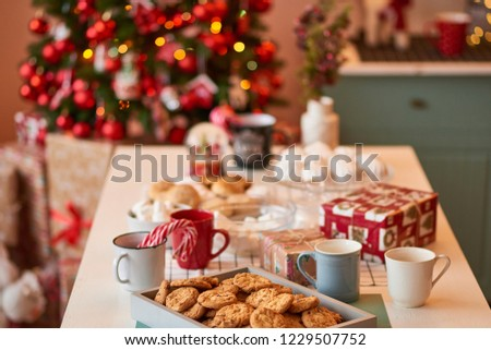 Christmas decoration of the kitchen  #1229507752