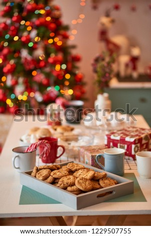 Christmas decoration of the kitchen  #1229507755