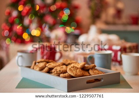 Christmas decoration of the kitchen  #1229507761