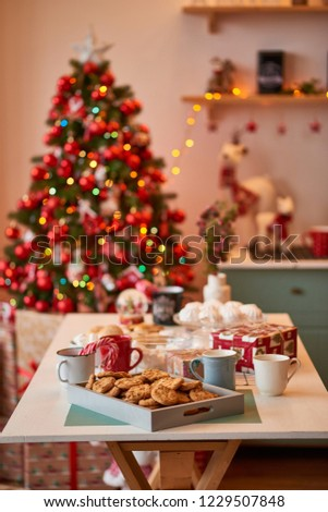 Christmas decoration of the kitchen  #1229507848