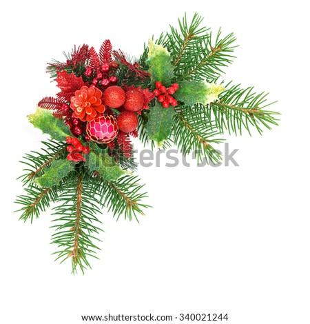 Christmas decoration on a white background - Shutterstock ID 340021244