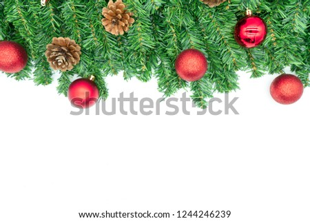 Christmas decoration on a white background isolated #1244246239