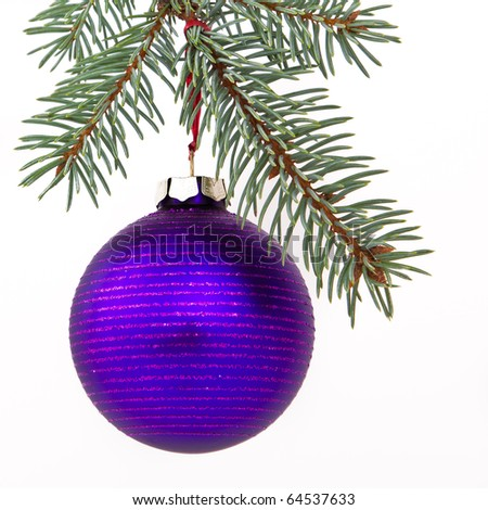 Christmas decoration on Christmas tree