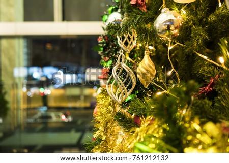 Christmas decoration on Christmas tree./ Christmas decoration. #761212132