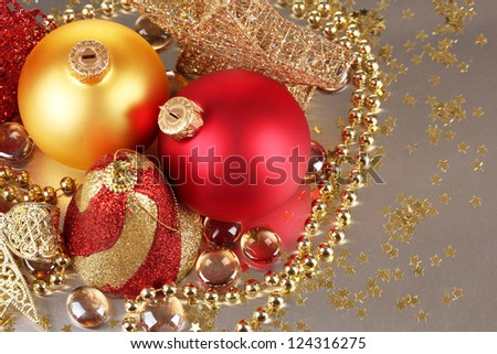 Christmas decoration on gray background