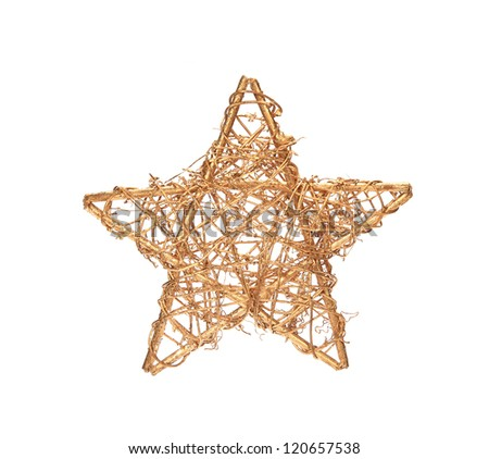 christmas decoration on white