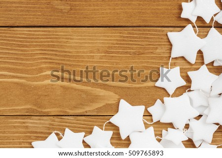 Christmas decoration on wooden background. #509765893
