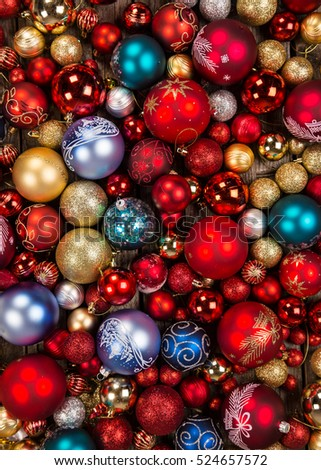 Christmas Decoration On Wooden Background Close Up 524657572