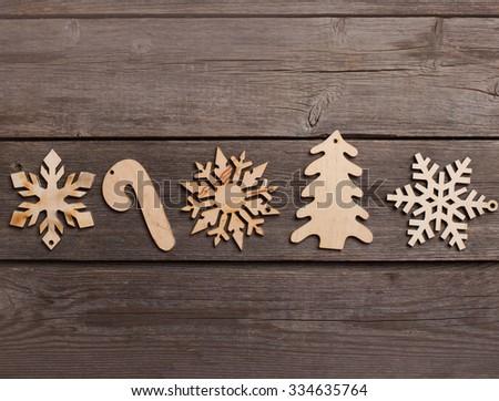 Christmas decoration over grunge background stock photo 334635764 shutterstock - Grune dekoration ...