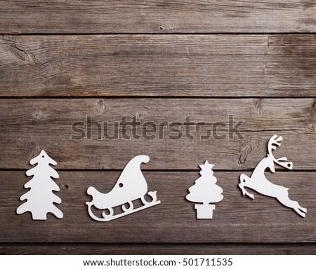 Christmas decoration over grunge background stock photo 501711535 shutterstock - Grune dekoration ...