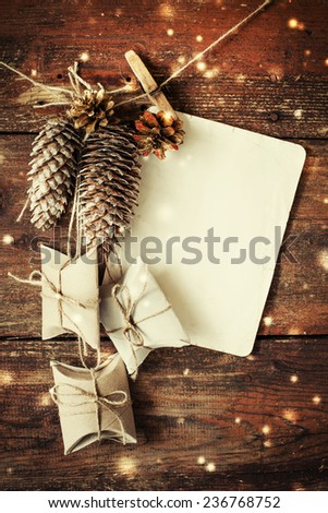 Christmas decoration over wooden background #236768752