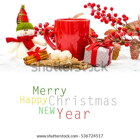christmas decoration over wooden background 536724517
