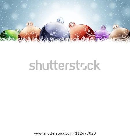 Christmas decoration. Raster version, vector file id: 112056941