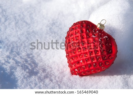 Christmas decoration red heart