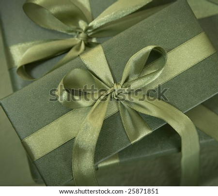 Christmas decoration series,close up shot of  gift boxes in studio