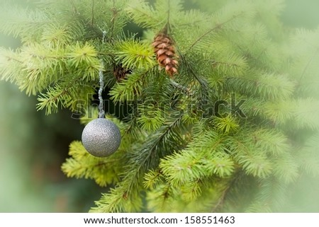 Christmas decoration - silver bauble