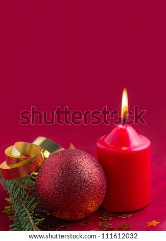 Christmas decoration with candle