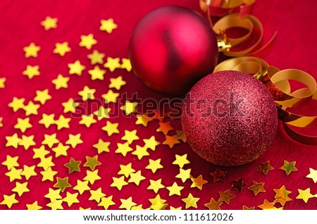 christmas decoration with christmas ornaments