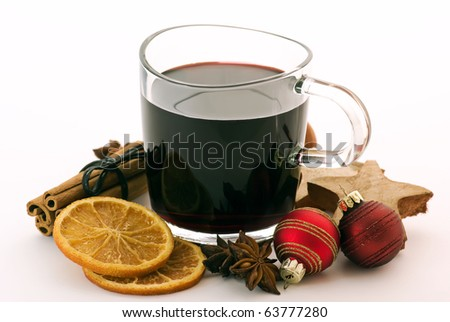 Christmas Decoration with Hot Wine Punch