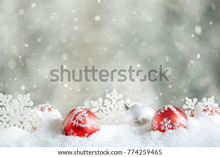Christmas decoration with natural blurred background. - Shutterstock ID 774259465