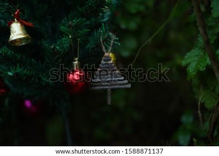 christmas decoration wood decoration bells