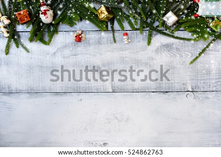 Christmas decoration, Xmas concept and idea in Winter with snow #524862763