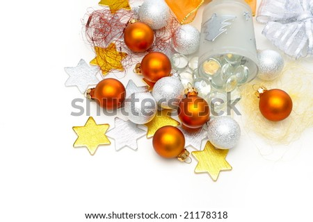 christmas decorations against white background #21178318