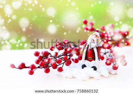 Christmas decorations background  #758860132