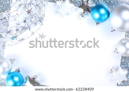 Christmas decorations. Background with space for text or image.
