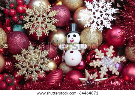 Christmas decorations closeup