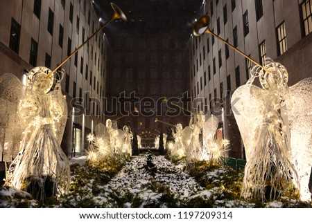 Christmas decorations in New York City