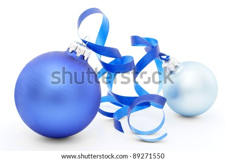 Christmas decorations - isolated on white