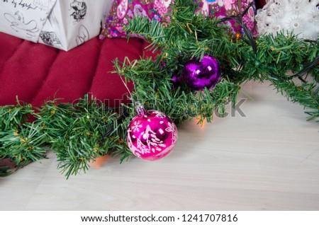 Christmas decorations macro