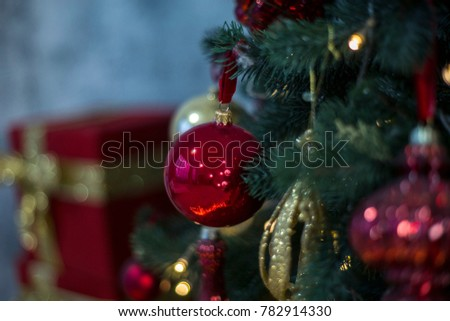 christmas decorations new year background
