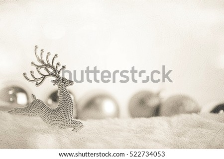 christmas decorations on mulberry paper texture for background #522734053